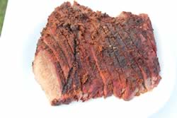 brisket flat sliced
