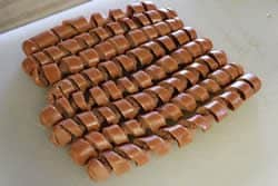 All of the hotdogs spiral cut