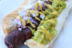 Smoked hotdog made a different way