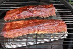 Ribs moved to the grates