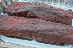 Sticky smoked ribs.. done