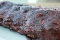 Sticky smoked ribs