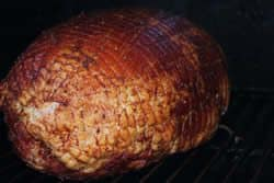 Ham directly on grate of smoker