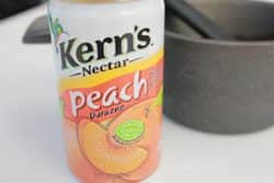 Peach nectar for ham glaze