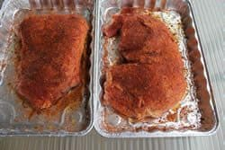 Rub on both sides of meat and ready for the smoker