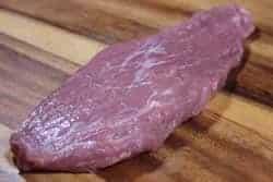 Pork tenderloin pressed flat