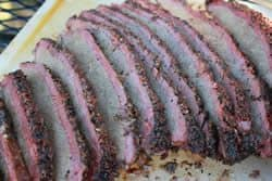 Smoked brisket all sliced up