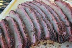 Smoked brisket all sliced up