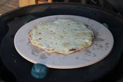 Quesadilla flipped over