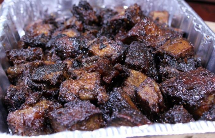 Smoked Chuck Roast Burnt Ends