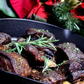Cranberry Braised Smoked Beef Short Ribs