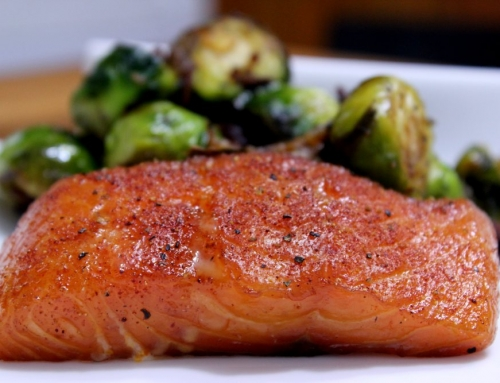 Cherry Smoked Salmon With Brussel Sprouts