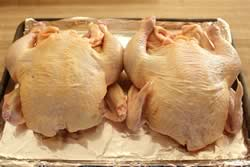 Chicken ready to be oiled and rubbed