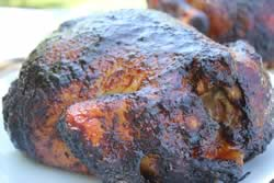Whole smoked chicken