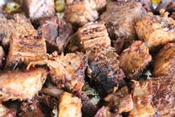 Burnt ends almost ready to eat