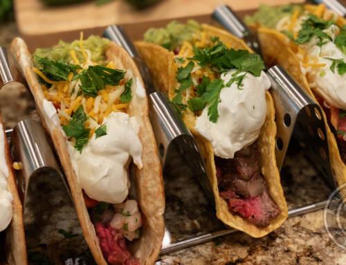 Smoked Skirt Steak Tacos