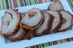 Pork loins sliced