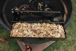 Filling the box with wood chips