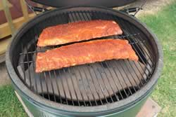 Ribs on grate