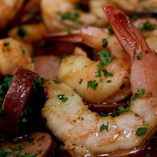 Pan Smoked Shrimp with Butter