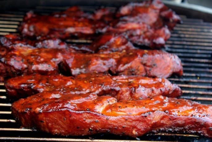 Smoked Pork Country Style Ribs Cherry Dr Pepper Theme