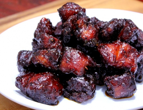 Smoked Pork Belly Burnt Ends!
