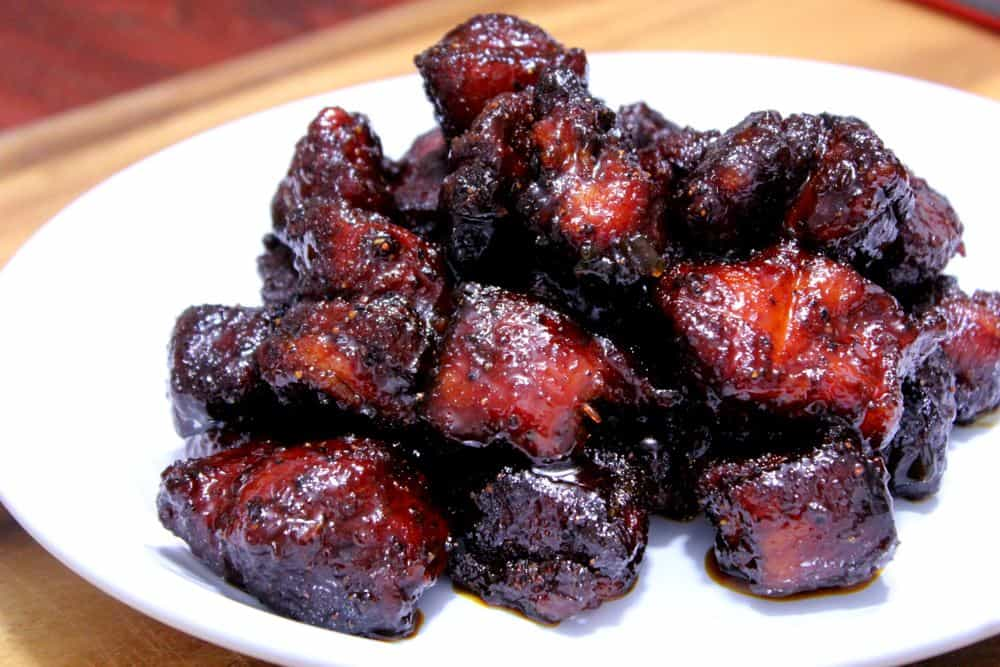Smoked Pork Belly Burnt Ends Brace Yourself