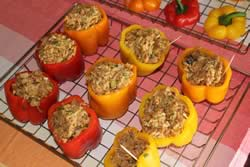 Peppers filled with the stuffing