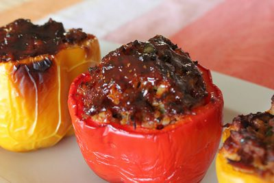 Smoked Stuffed Bell Peppers