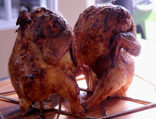 Hot Smoked Beer Can Chicken