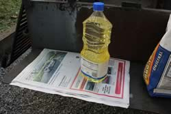 Oil + newspaper