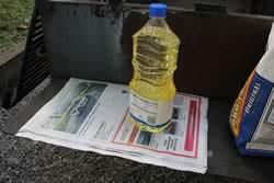 Oil + newspaper