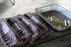 Ribs and foil pan