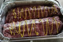 Mustard on ribs
