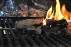 Mesquite wood smoking