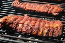 Ribs directly on grate