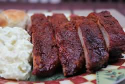 Ribs are served