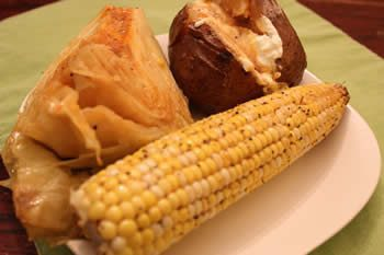 Smoked Corn, Smoked Cabbage and Smoked Potatoes
