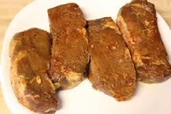 Marinated tenderloin steaks