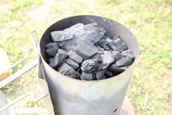 Fill Chimney with Charcoal