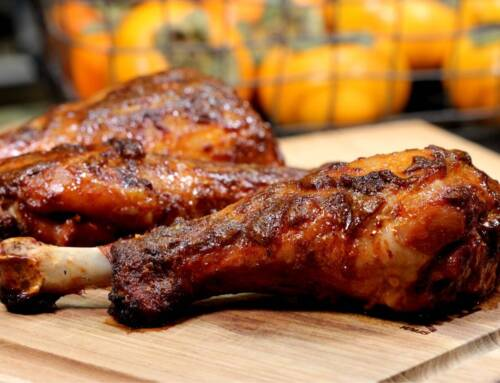 Buttery Maple Glazed Smoked Turkey Legs