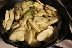 Sauteed Parsnips with Leeks