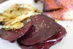 Sauteed Beets and Parsnips with Leeks