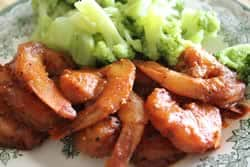 Shrimp with steamed broccoli