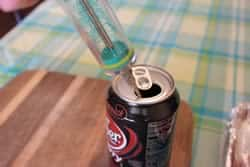 Injector in Cherry Dr. Pepper can
