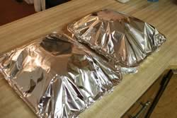 Pork Butts covered with Foil