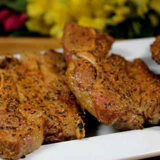 Smoked Lamb Shoulder Chops