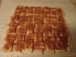 Bacon Weave with Rub Applied