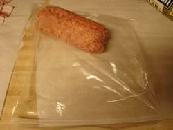 Sausage into Ziploc Bag