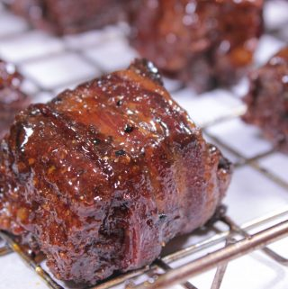 Bacon Wrapped Smoked Burnt Ends